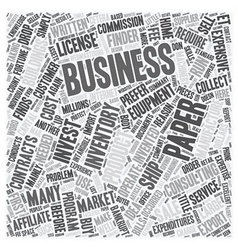 Make your fortune in a paper business text vector