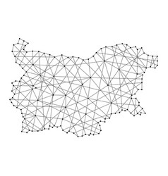 Map of bulgaria from polygonal black lines vector
