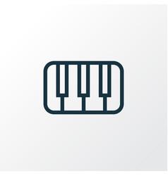 Piano outline symbol premium quality isolated vector