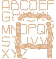 plaster alphabet vector image vector image