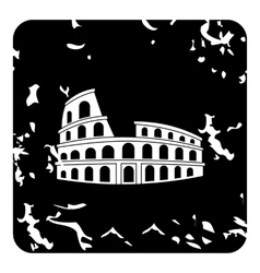 Roman colosseum icon grunge style vector