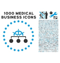 Rule Icon with 1000 Medical Business Pictograms vector image