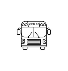 school bus line icon student transport vector image