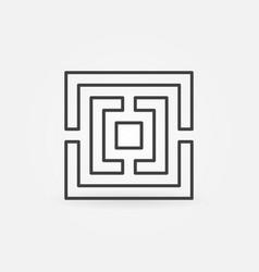 square maze outline icon vector image vector image
