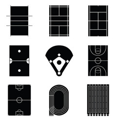 stadium icon set vector image vector image