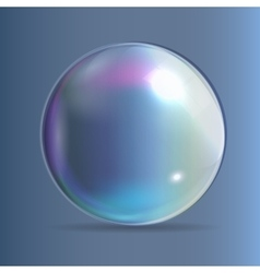 Transparent bubbles on dark blue background vector