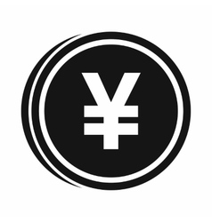 Coin yen icon simple style vector