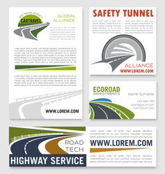 Road and highway service company banners vector