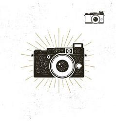 Camera icon silhouette vector