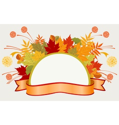 Colorful frame with autumn leaves vector