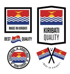 Kiribati quality label set for goods vector