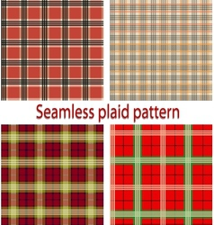 Seamles plaid vector
