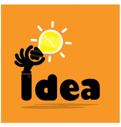 Creative bulb light ideaflat design vector
