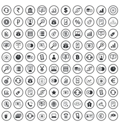 Finance sign icons set vector