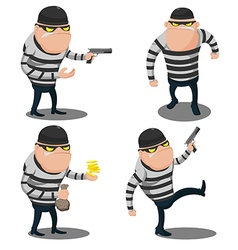 Big thief steal cartoon character vector