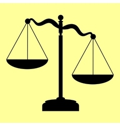 Scales of justice sign vector