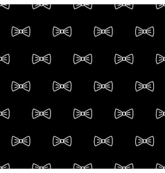 Bow tie seamless pattern vector