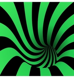 Spiral striped abstract tunnel background vector