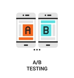 a b testing icon vector image