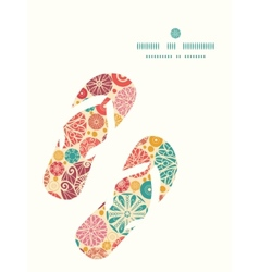 Abstract decorative circles flip flops silhouettes vector