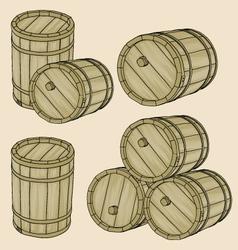 barrels vector image