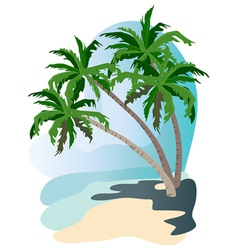 beach palms vector image vector image