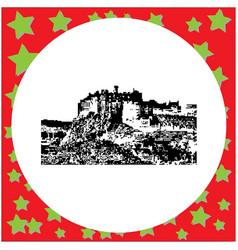 black 8-bit edinburgh castle vector image vector image