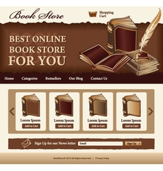 Book Store template vector image vector image