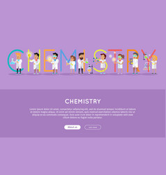Chemistry conceptual flat style web banner vector