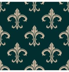 Classic fleur de lys seamless background pattern vector