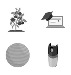 Cooking training and other monochrome icon in vector