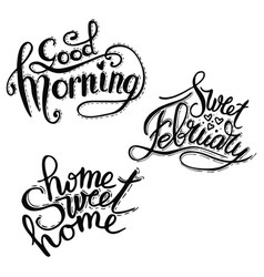 good morning lettering text vector image vector image