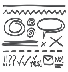 Hand Drawn Icon Doodle Set vector image
