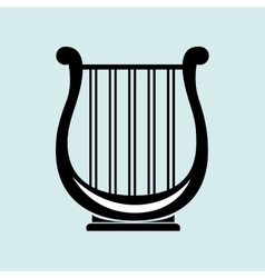 harp isolated design vector image