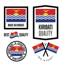 Kiribati quality label set for goods vector