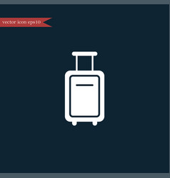 luggage icon simple vector image vector image