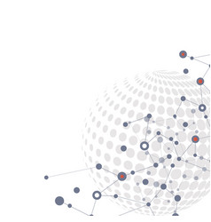 molecule structure background vector image