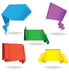 origami speech bubble vector image vector image