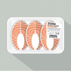 Salmon Sliced Pack vector image