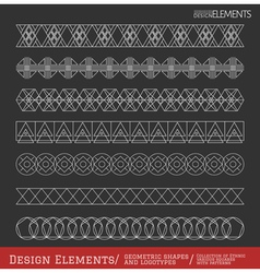 Set of geometric hipster shapes and vector