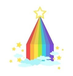 Shaped Rainbow Icon vector image vector image