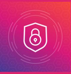 Shield icon security symbol vector