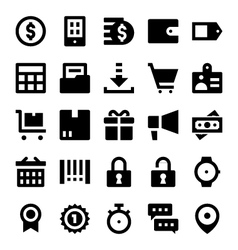 Shopping and Retail Icons 2 vector image vector image