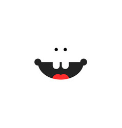 Small child smile icon vector