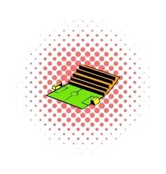 Soccer stadium icon comics style vector