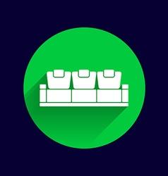 sofa icon button logo symbol concept vector image vector image