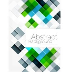 Square shape mosaic pattern design universal vector