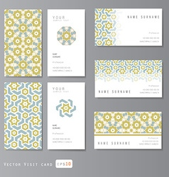 templates set visit card vector image vector image