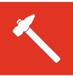 The hammer icon Hammer symbol Flat vector image vector image