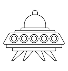 Ufo flying saucer icon outline style vector